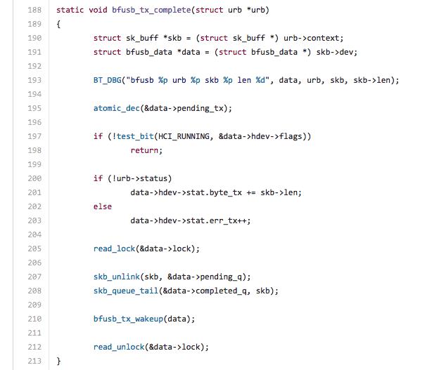 Les codes des algo des logiciels de trading automatique ne sont (évidemment) pas disponibles au public. Mais si vous vous demandez à quoi peut ressembler le code d'un logiciel – ici une partie du code du célèbre système d'exploitation GNU/Linux – voici un exemple.