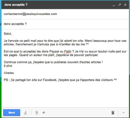 Envoyer email gmail