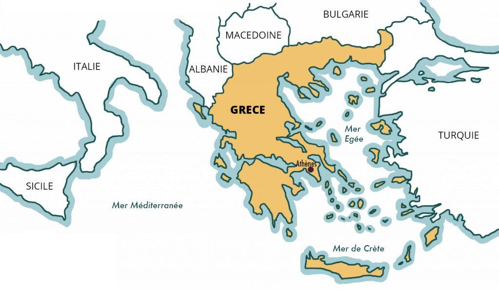 Une petite mise au point géographique pour commencer : carte de la Grèce