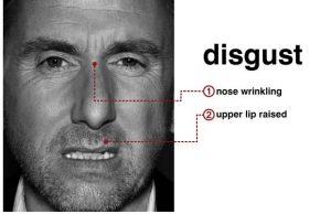 Micro-expression du dégout