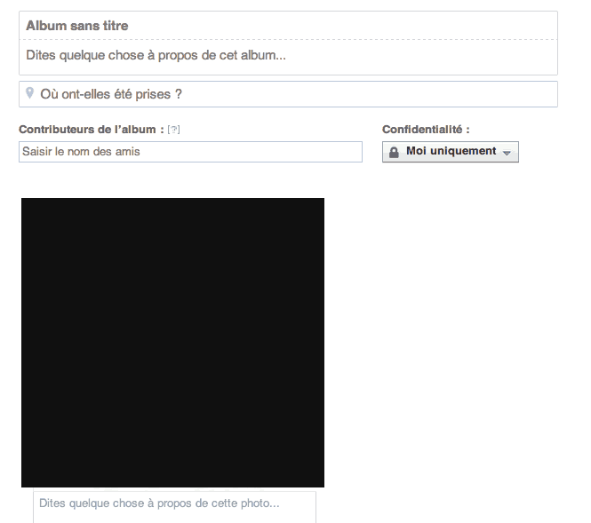 Modifier album confidentialité Facebook